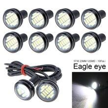 купить 10Pcs 23mm LED Eagle Eye 12LEDs High Power 4014 12SMD White 12V DRL Car Fog Bulbs Reverse Backup Light Parking Signal Lamp онлайн