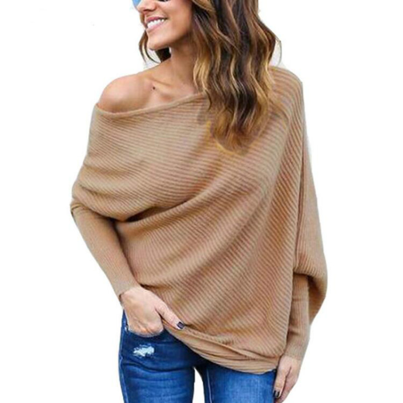 Fashion Batwing Sleeve Sweater Blouses 2018 Vetment Femme Sexy Off Shoulder Blusas Women Shirt Ladies Tops Camisa Mujer 3XL