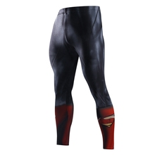 Men Compression Tights Superman  Jogger Tights Long Pants Fitness Skinny Leggings Trouser