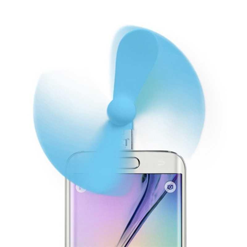 ミニ 2 イン 1 マイクロ USB & USB OTG 冷却ファンアンドロイドスマートフォンのためのサムスン、 LG 、 HTC