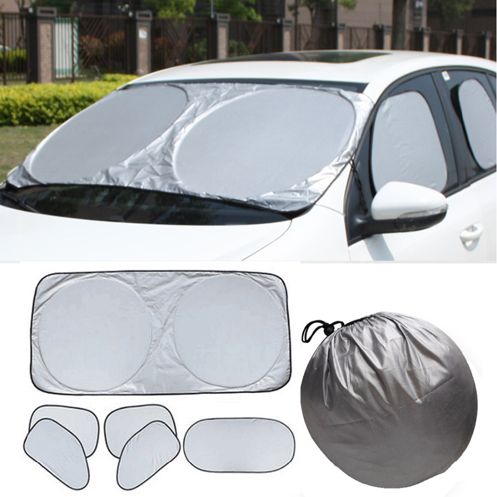6Pcs Car Sun Shade UV Protect Sunshade Window Front//Back Windshield Visor Block