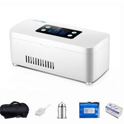 2019 портативная инсулиновая сумка-холодильник для хранения диабетический инсулиновый кулер перезаряжаемый холодильник мини холодильник к...