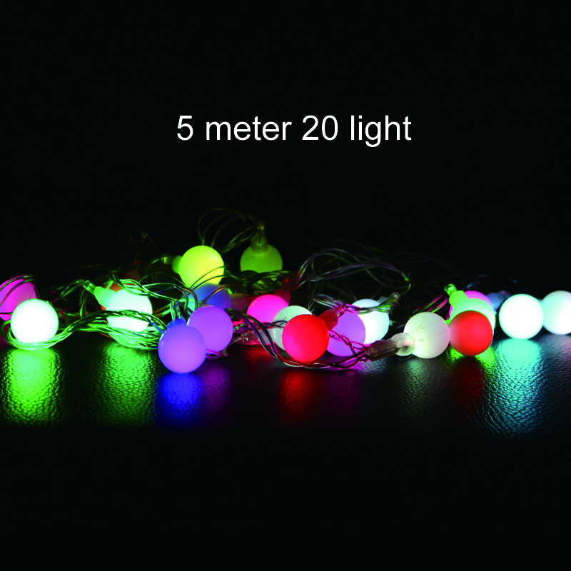 Connectable Outdoor Lights: connectable LED Ball Christmas lights indoor outdoor decoration 5m 20 leds  fairy string lights wedding party,Lighting