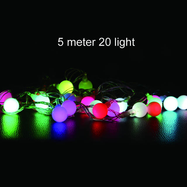 connectable led ball christmas lights indoor outdoor decoration 5m 20 leds fairy string lights wedding party