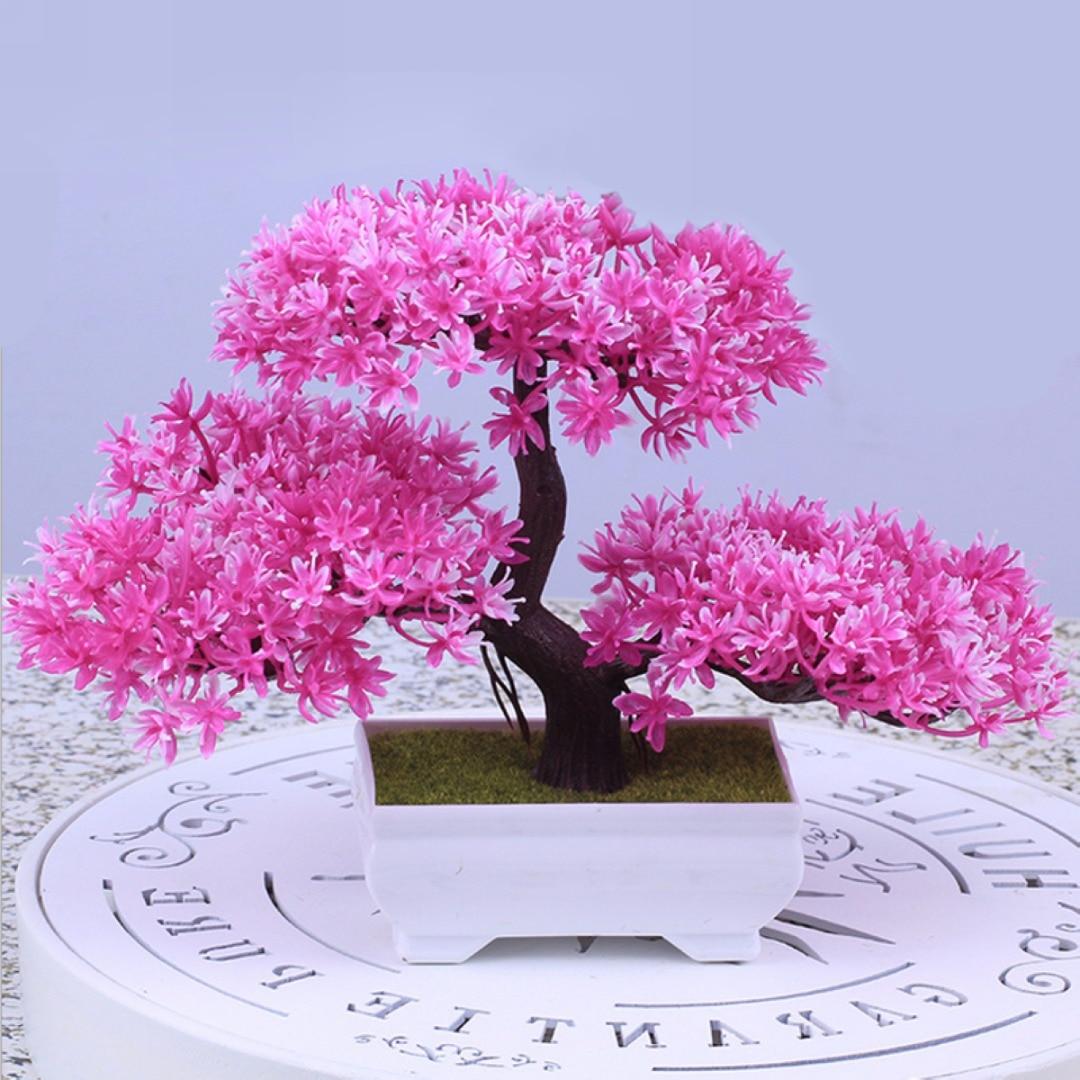 Mayitr Artificial Plastic Resin Bonsai Tree For Wedding Decor Home Decoration Accessories