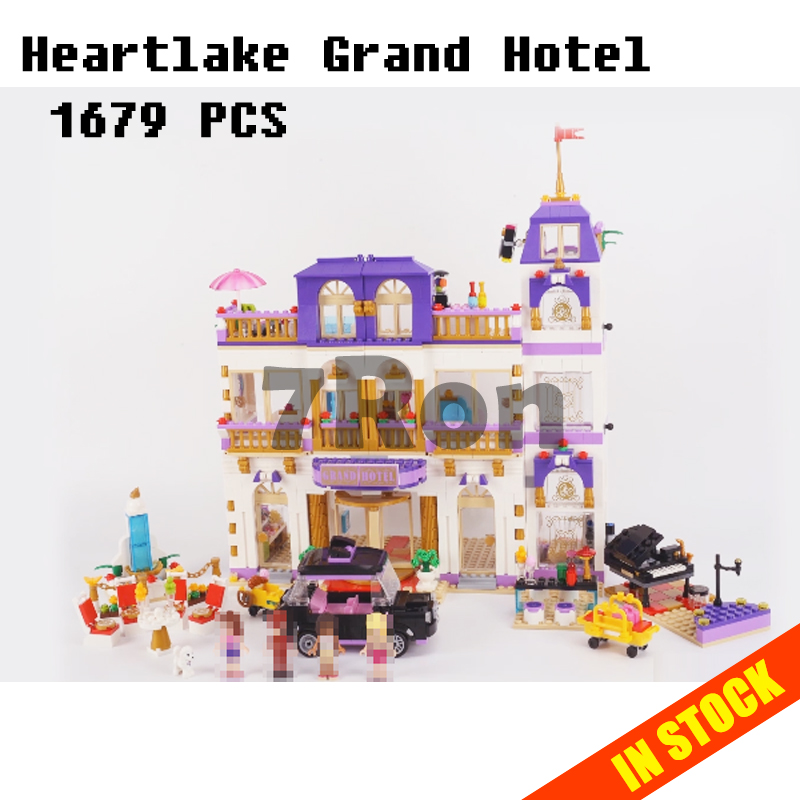 Models building toy 01045 The Heartlake Grand Hotel Building Blocks Compatible with lego Friends Series 10547 toys & hobbies 1585pcs friends series heartlake grand hotel 10547 model building bricks blocks emma stephanie toys girls compatible with lego