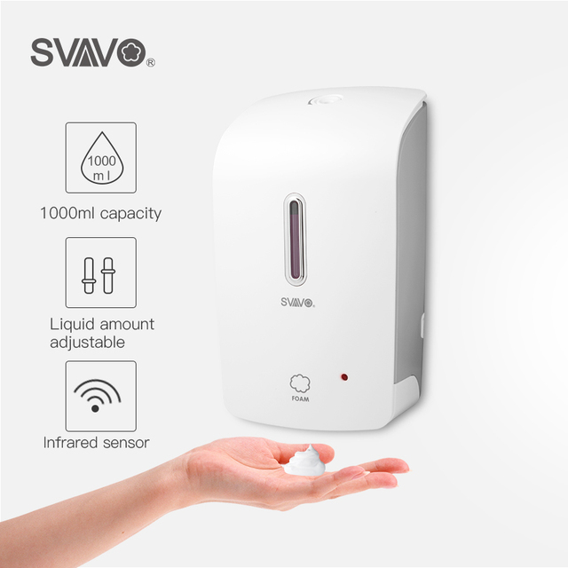 Bathroom Automatic Foam Soap Dispenser 1000ml Wall Mounted Built in Infrared Smart Sensor Shower Shampoo Foam Soap Dispenser