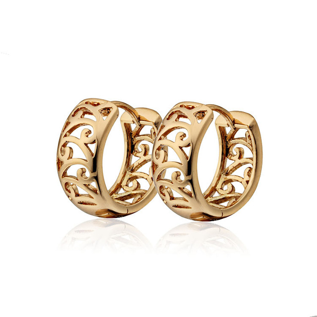 Brand Gold-Color Small CC Hoop Huggie Earrings For Women Bijoux Brinco Cz Crysta