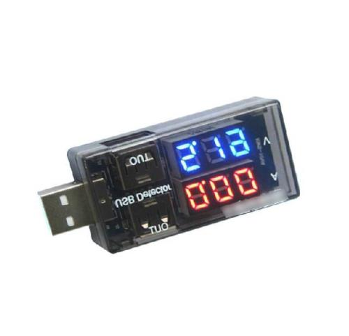 USB Current Voltage Tester USB Voltage Ammeter USB Detector Double Row Shows
