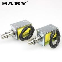 Small electromagnet DC 12V24V miniature push-pull electromagnet push rod tool 10mm stroke 5N holding force 1 pcs