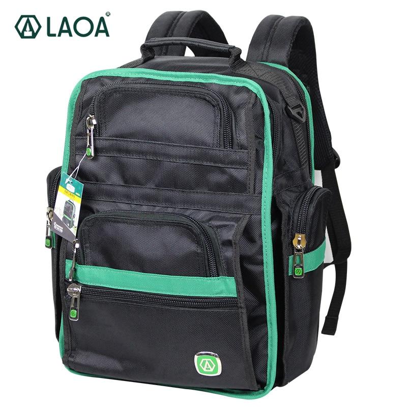 LAOA Backpack Tradesman Organizer Bag Shoulders Tool Eletricista Tool Bags Multifunction knapsack with Tools Storage