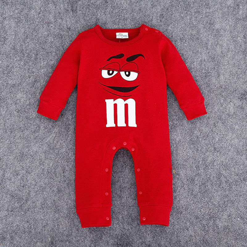 2020 Infant Clothes Autumn NewBorn Baby Rompers letter M Clothing Costumes Cartoon Funny Kids Jumpsuit New Born Boys Clothes | Happy Baby Mama