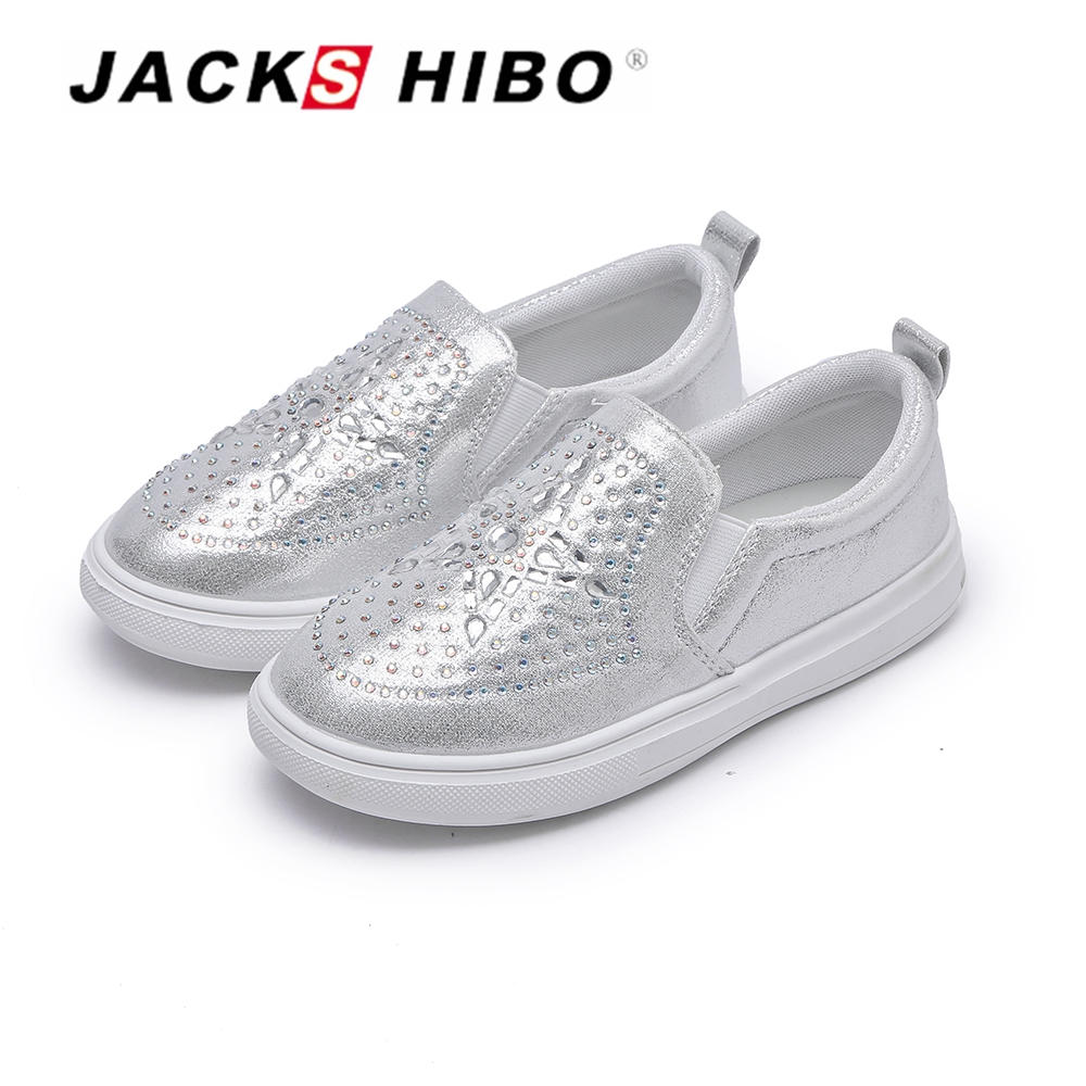 JACKSHIBO New Spring Kids Slipper-on for Child Sneakers Girls Breathable Kids School Shoes Toddler Anti-skid Flats Leather Shoes