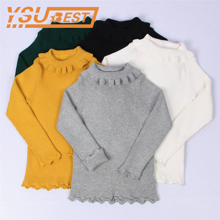 2018 Baby Girls Sweaters Solid Candy Color Girls Sweaters Autumn New Knitted Sweaters Baby Girls Clothes Fashion Brand Clothes 1