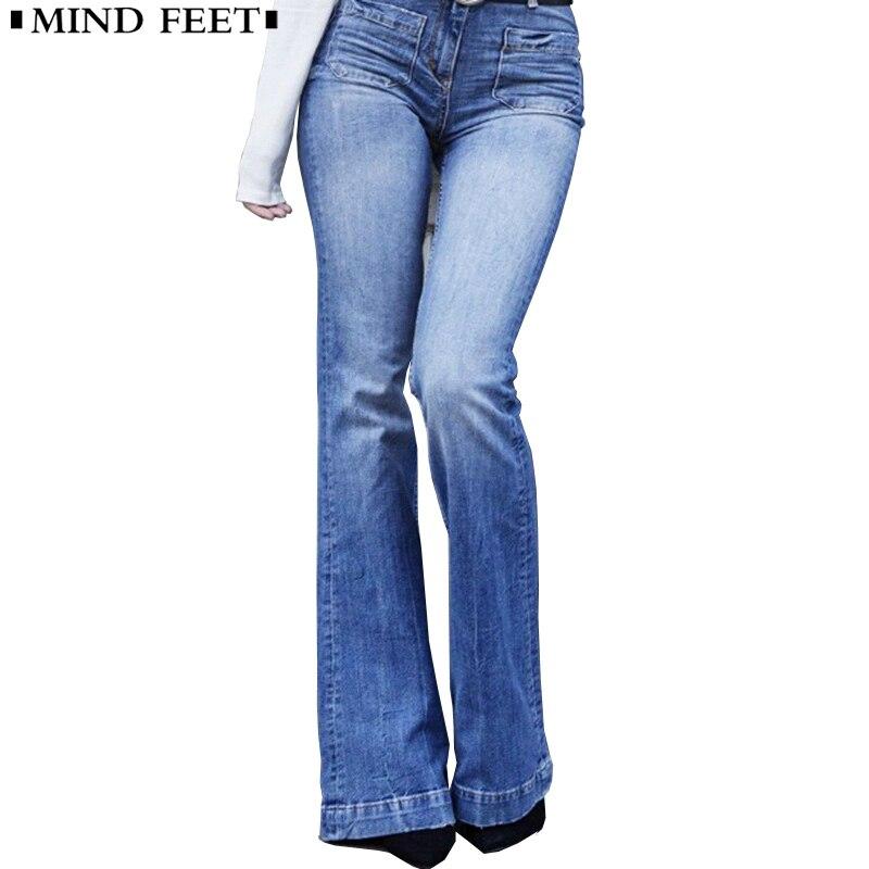 Flare Lavado Mujer Y De Color Ancho Vintage Skinny Damas Mente Pantalones  Largo Pierna Pies Primavera Slim Picture Vaqueros Casual Otoño a8wnpqEx ae466159bd99