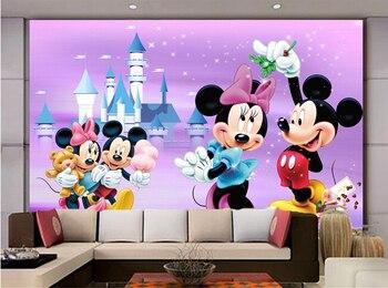 Custom papel DE parede infantil cartoon mice and castle murals for children room TV sitting wall vinyl 3 d