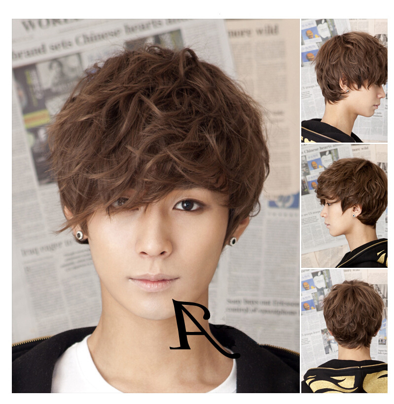 Korean Version Men S Fashion Wig Handsome With Short