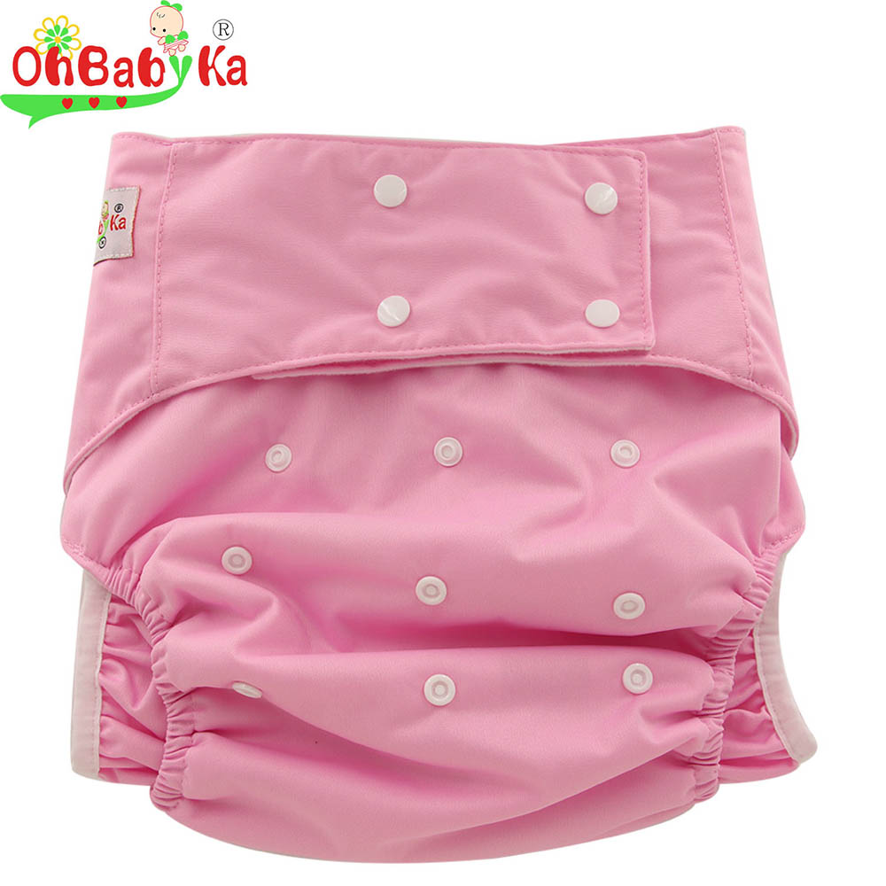 OhBabyKa Adult Cloth Diaper with Insert for Bedwetting One Size Fit All Adjustable Incontinence Teen Adult Cloth Diaper Pants
