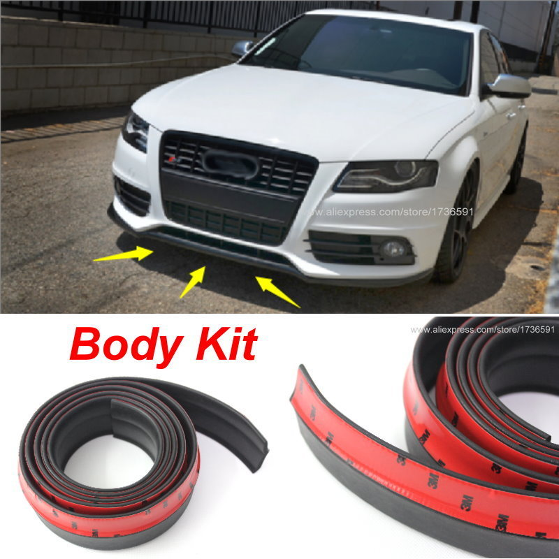 For <font><b>Audi</b></font> A5 S5 <font><b>RS5</b></font> 2007~2015 Bumper Lip / Front Spoiler Deflector For Car View Tuning / <font><b>Body</b></font> <font><b>Kit</b></font> / Strip Skirt Stickers image