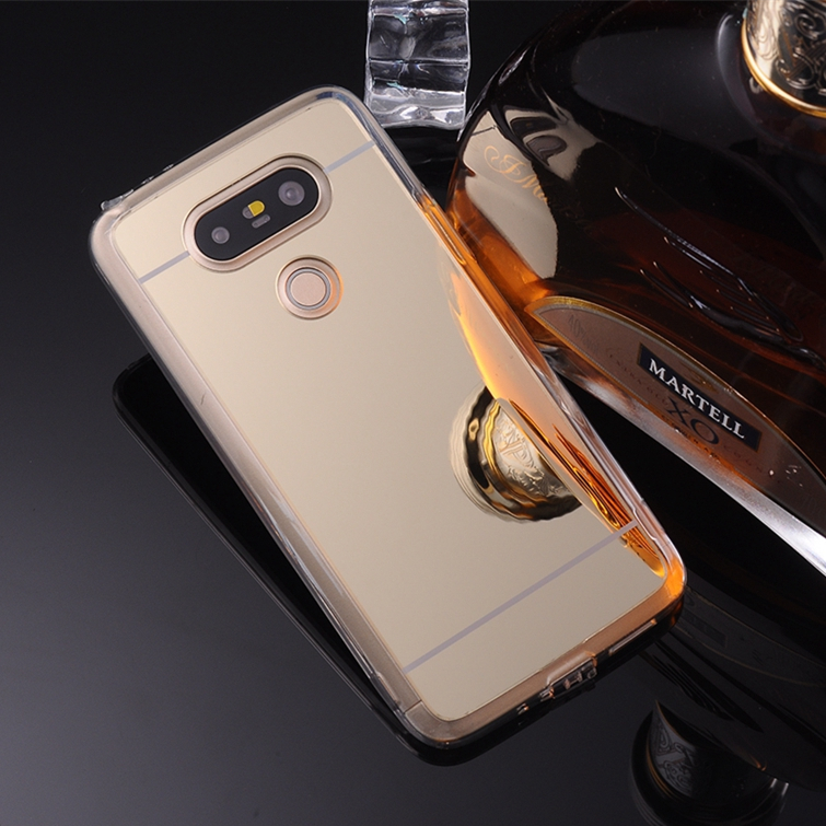 Gold Mirror Plating Transparent TPU Flexible Silicone Soft Phone Cases Cover For LG G3 D850 G4 H815 G5 V10 H968 V20 H910 Case