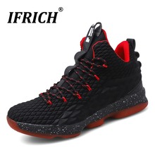 Men Basketball Sneakers Height Increasing Summer Breathable Soft Mesh Sport Trainers Cushioning Non Slip Ifrich Athletic Shoes