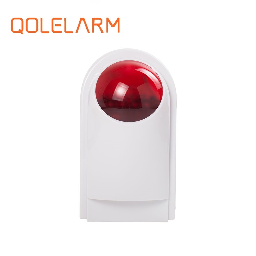 QOLELARM 433MHz Wireless Weatherproof Outdoor Siren 120bd For U8 And KI-GSM908B Alarm System Kit
