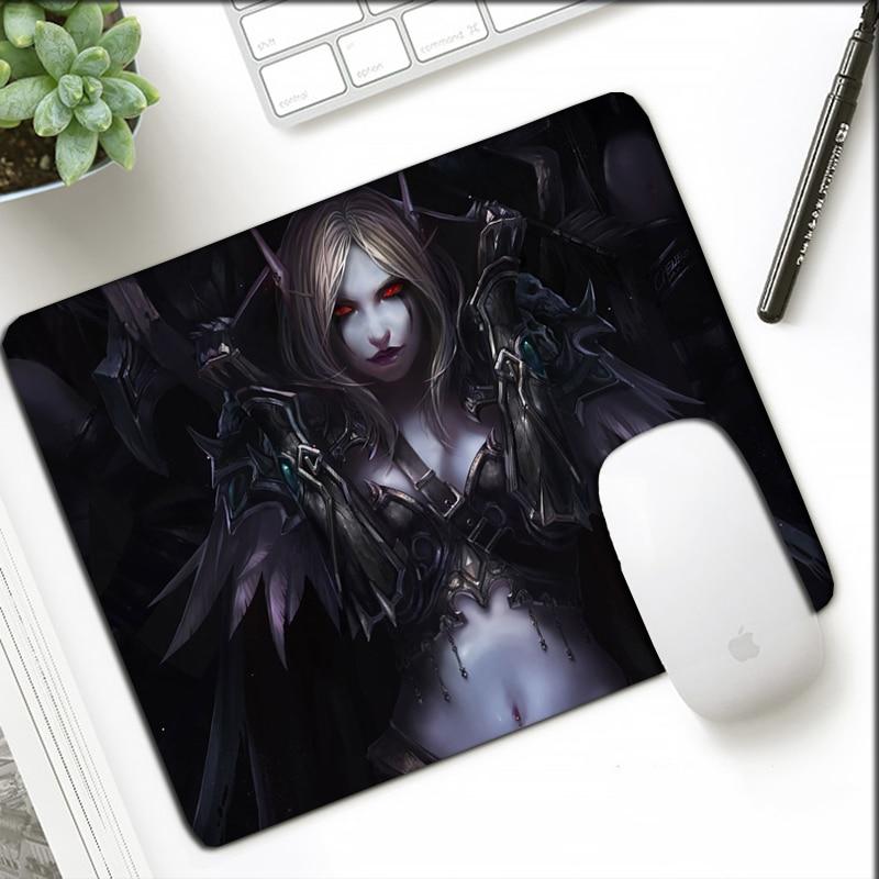 Small Size 21x26cm WOW Mousepad Cartoon Gift  For Office Laptop Notebook Mat Locking Edge World Of Warcraft  Otaku Mouse Pad