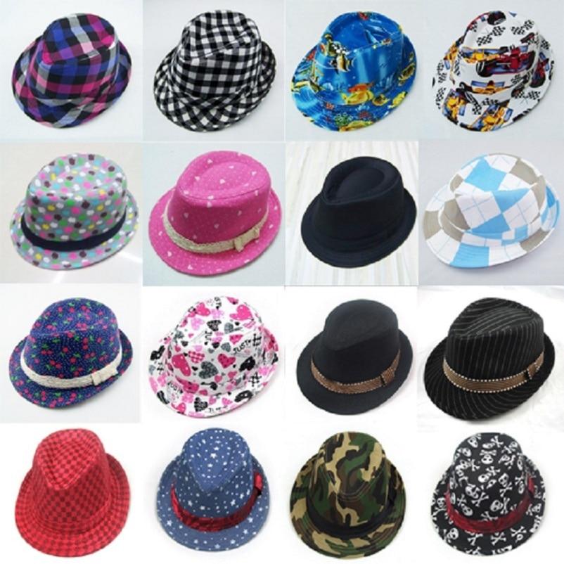 Bnaturalwell Children canvas fedora hat Boys jazz cap Trilby hat Kids top hat  Kids fedoras Dicers e0bf841652f0