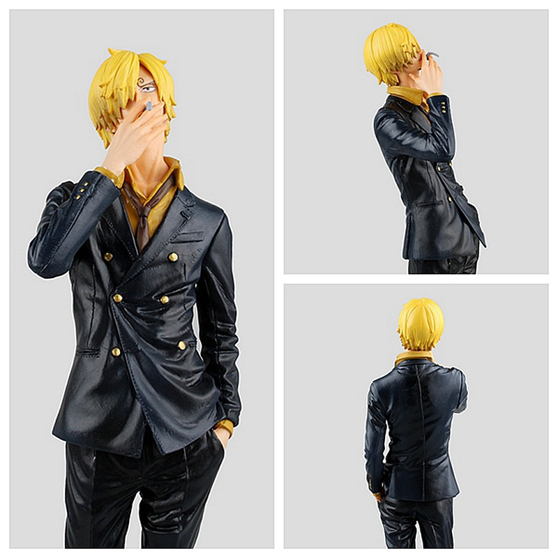 цена на 25CM pvc Japanese anime figure one piece Sanji action figure collectible model toys for boys S133