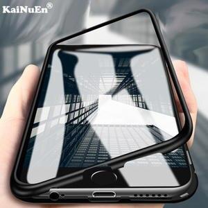 KaiNuEn luxury 360 magnetic phone bumper Glass  etui,capinha,coque,cover,case for iphone 6 6s 7 8 X 10 plus 6plus 7plus  8plus ix ae28f49094e9