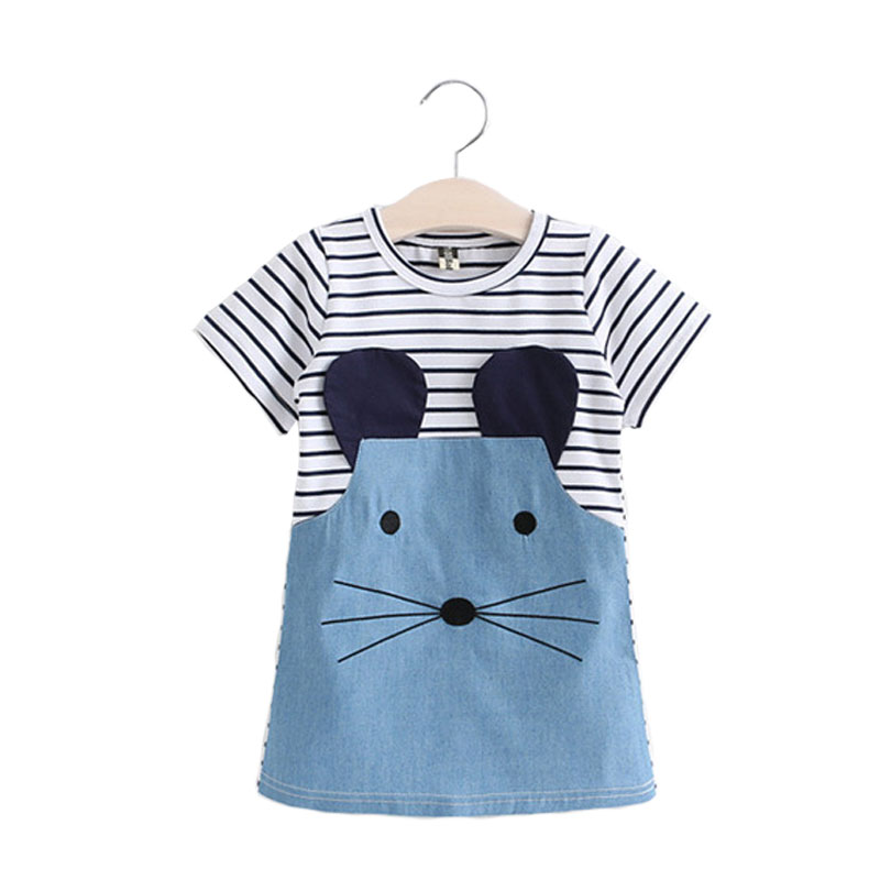 Stripe Dress For Girl Summer Children Dress Cotton Girls Dresses Kids Dresses For Girls Fashion Baby Girl Clothing retail dresses for girls kids baby girl dress princess summer stripe dresses cotton pocket children clothing jm6828 mix