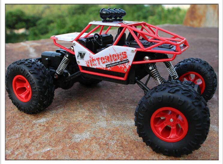 Jouets pour enfants adultes 1:16 4 canaux 4WD 2.4G haute vitesse pistolet type télécommande RC dérive escalade voiture de fond jeep enfants cadeau - 5