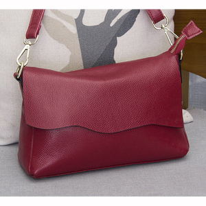 Image 2 - Genuine Leather Womens Shoulder Bags for Women Fashion Ladies CrossBody Bag Female Cow Leather Flap Handbags