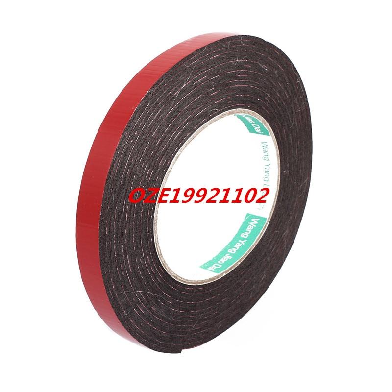 12mm Dual Side Adhesive Shock Resistant Anti-noise Foam Tape 5M Length 5m 8mm x 3mm dual side adhesive shockproof sponge foam tape red black