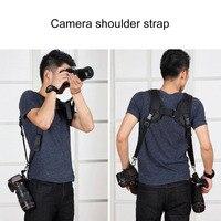 PULUZ Professional Camera Strap Durable Soft DSLR K Pattern Double Camera Shoulder Strap Adjustable Belt For