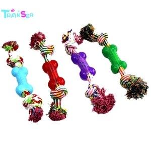Transer 1 Uds juguetes para perros divertidos juguetes con cuerda de algodón para cachorros pequeños juguetes masticables para mascotas suministros para mascotas colores aleatorios f8p15 P40