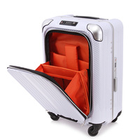 2024 inch aluminium frame luggage PC hardside suitcase spinner trolley bag computer bag