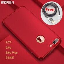 Для iPhone 7 Plus чехол защиты роскошный MOFI для iPhone 6 S Plus чехол красный для iPhone 5S SE чехол для iPhone 7 Чехол 6 s Капа Coque
