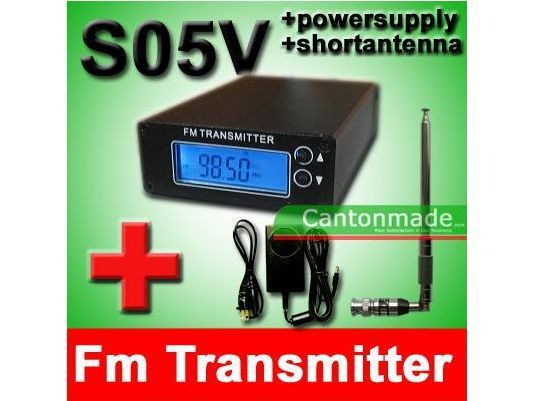 0.5W CZH-05A FM Transmitter Exciter TX Radio Stereo PLL LCD 88-108mhz + short antenna + Power Kit