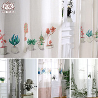 Cartoon Kitchen Window Curtains Panels For Living Room Semi Blackout Children Bedroom Boy Baby Dining Cafe