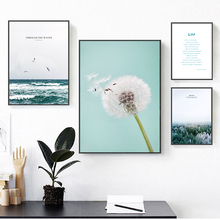 Sea Forest Iceberg Dandelion Life Inspirational Canvas Poster Wall Decoration Art Picture Modern Home Decor