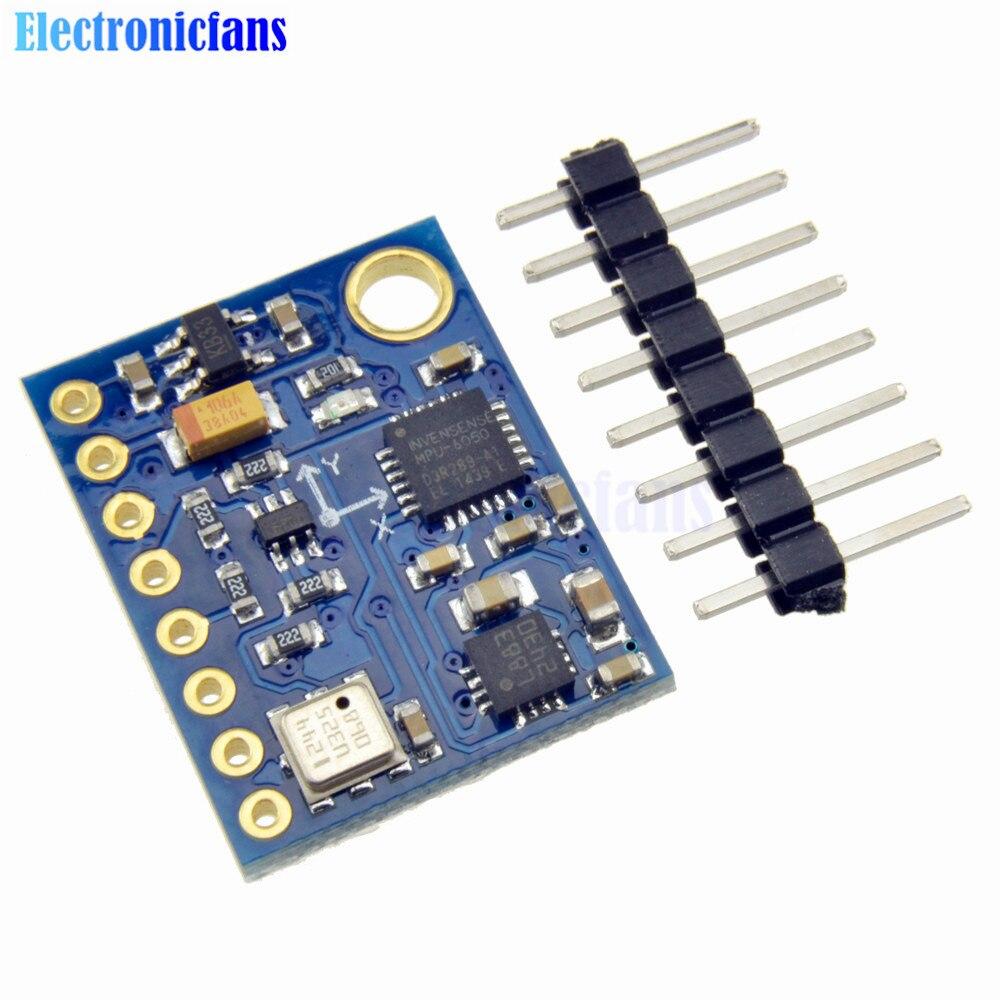 GY-87 I2C/CII 10DOF MPU6050 HMC5883L BMP180 Placa de Sensor para GY87 para Arduino 5 V de potencia incorporado filtros de alta precisión