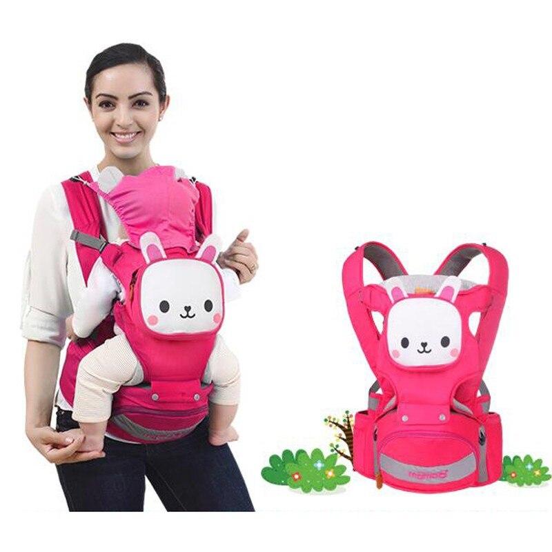 Sacs à dos bébé confortable coton infantile sac à dos enfant Wrap Sling enfant transporteurs sac confortable, aérer le coton 3-36 mois