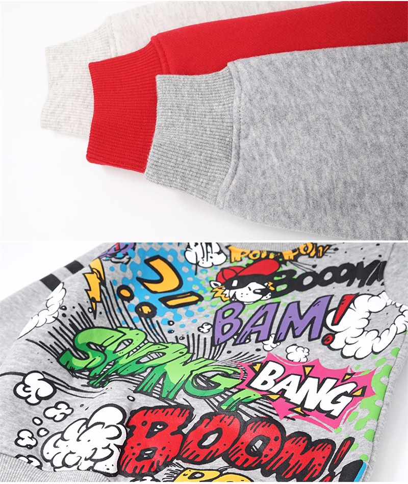 For Kids Sweatershirt Clothes T-Shirt Sweater Autumn Spring New Graffiti Cartoon Cat Letter Printing Next Boys Girls Bobo Choses01