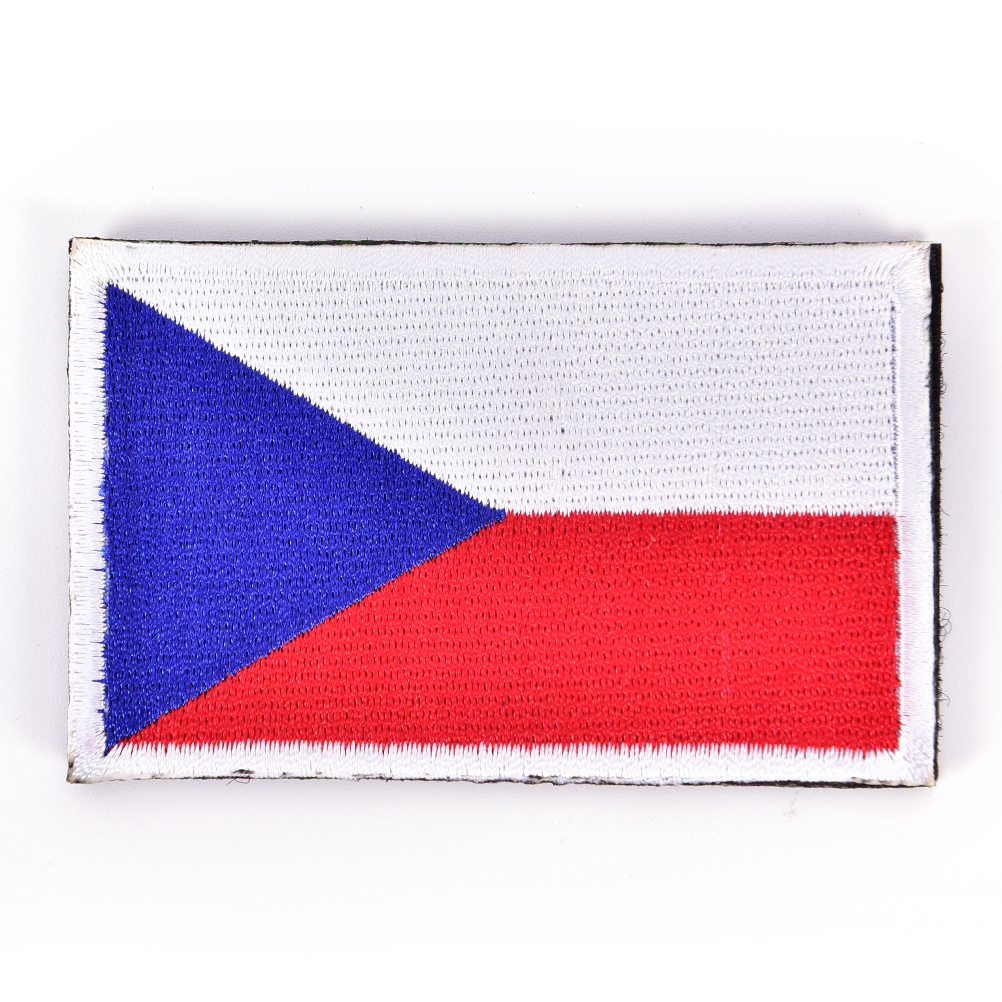 CZECH REPUBLIC FLAG PATCH BADGE IRON ON NEW EMBROIDERED