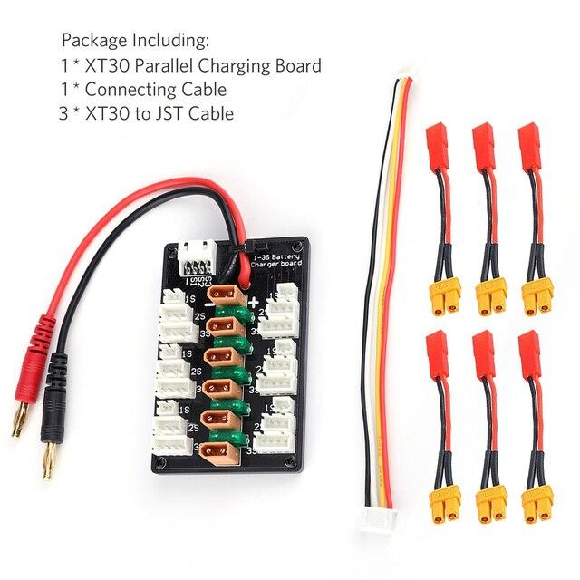 1-3 S XT30 Plug li-po batterie carte de charge parallèle 6 pcs XT30 mâle à JST câbles femelles pour IMAX B6 chargeur RC pièces de batterie 4