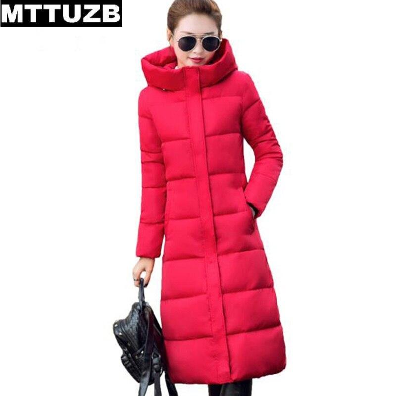 ФОТО MTTUZB Autumn winter women long coat lady's warm jacket long sleeve women's slim solid color overcoat female outwear