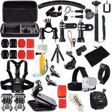 Action Camera Accessories Set Kit for Gopro hero 4 5 xiaomi yi 4K Chest Clamp Hand Mount Large Bag For Go pro SJCAM SJ4000 48