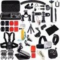Acción accesorios de la cámara set kit para gopro hero 4 5 pecho abrazadera de mano de montaje de gran bolsa de adaptador de coche para go pro sj4000 sjcam 48