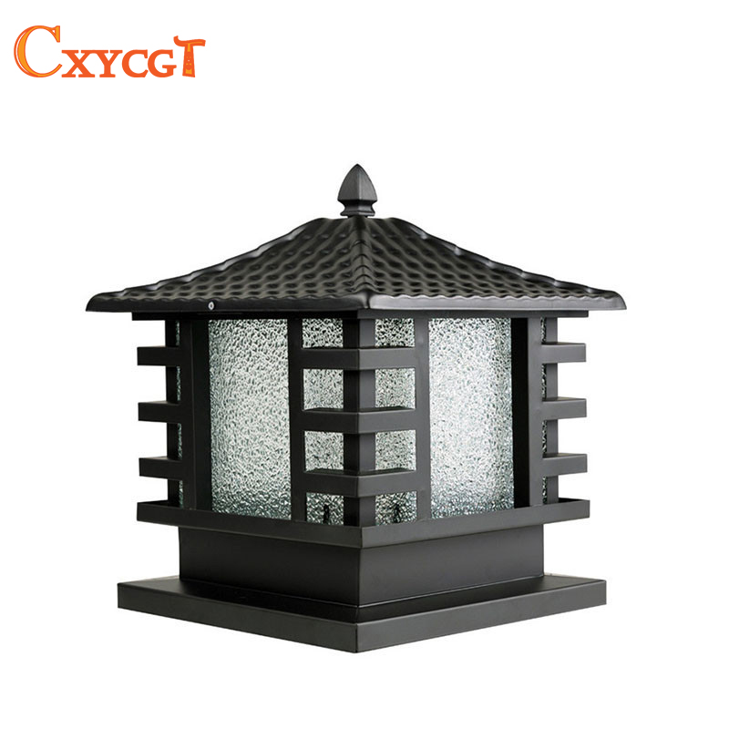 Outdoor Black Copper Porch Lamp Wall Lamp Gate Lamp Light